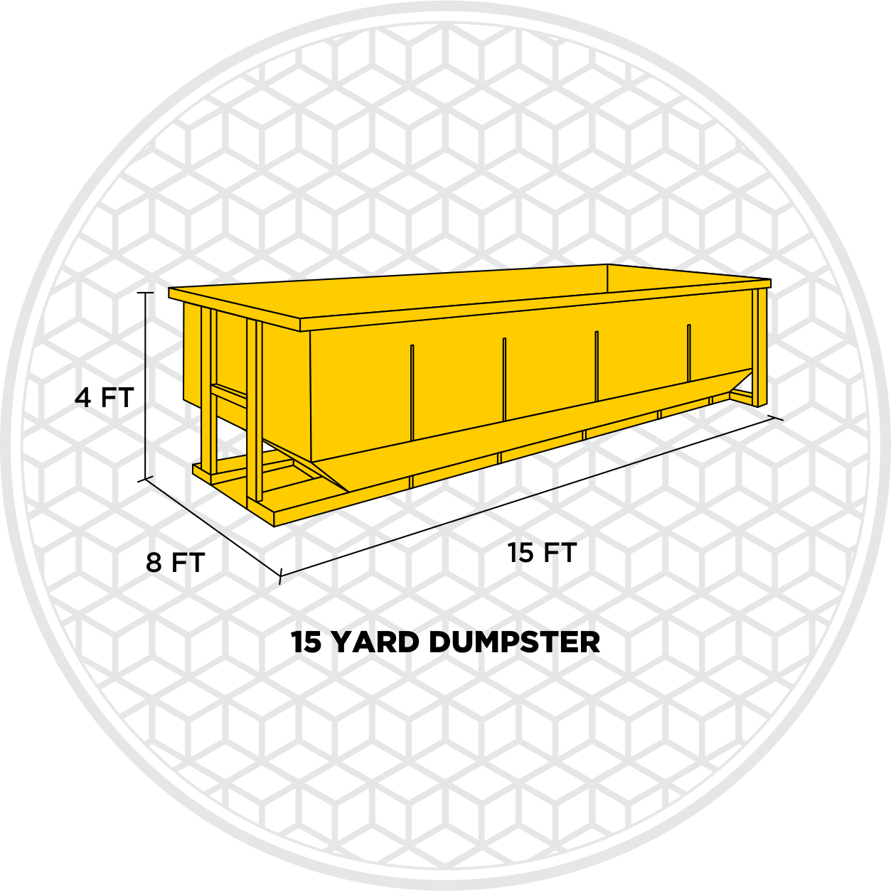 15 yard dumpster rental size