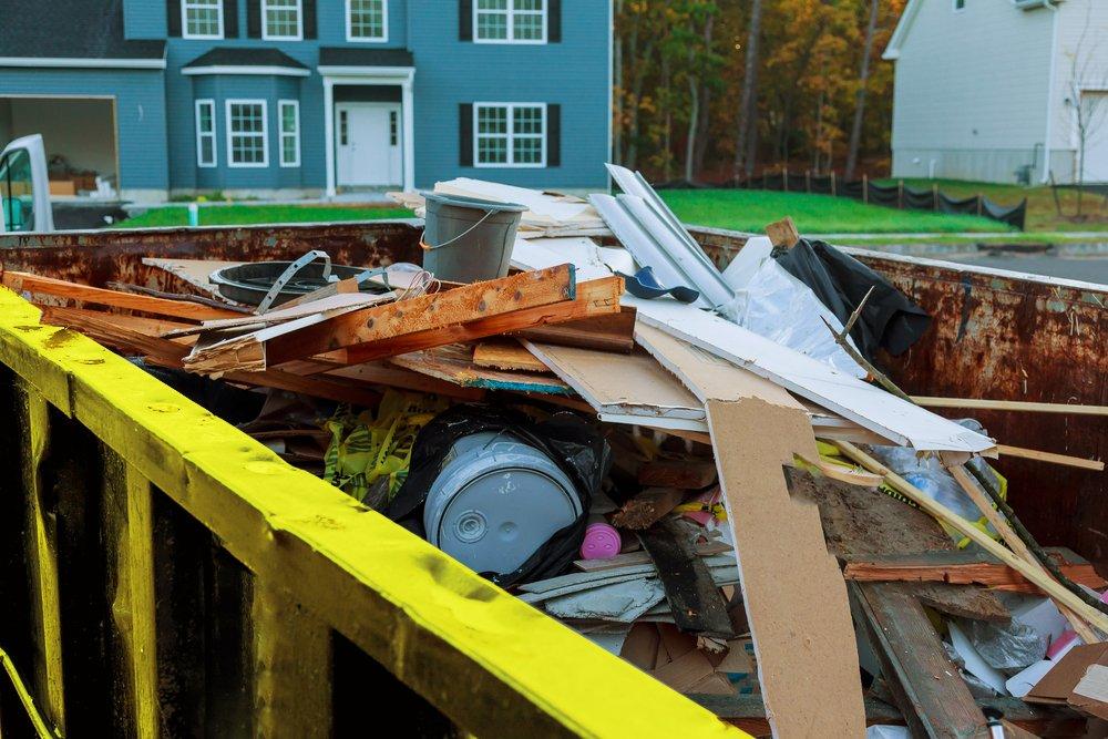 dumpster for home renovation