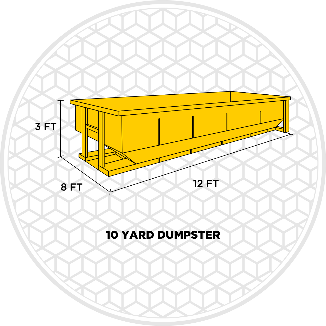 10 yard dumpster dimensions