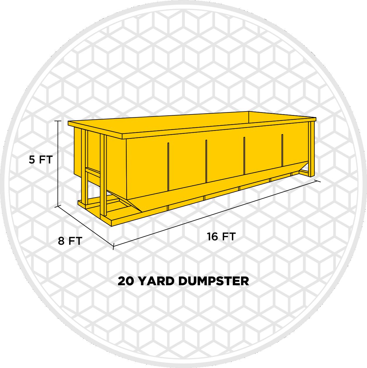 20 yard dumpster dimensions
