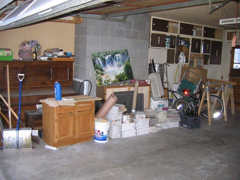 dumpster for garage cleanout