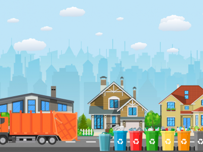 yellow dumpster service for home clean out
